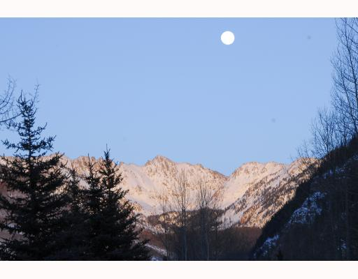 Views of the moon over the Gore Range from East Vail