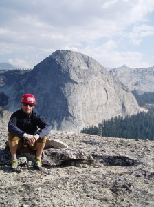 Rob in front of Fairview Dome CA, in a previous season of life