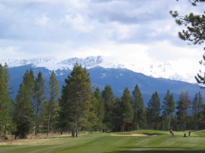 Snowy Peaks on the Second Fairway at Pole Creek