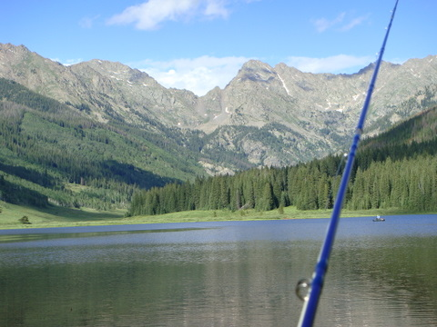 The Gore Range above Piney Lake